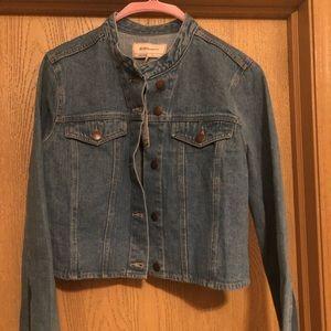 BCBG Crop Blue Jean Jacket, Size L